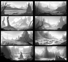 Scenery Thumbnails Practice by angelitoon