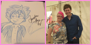 Reno (FFVII) Sketch and Meeting Quinton Flynn! by donnatron