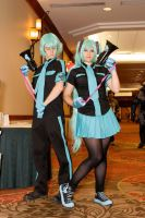 Hatsune Mikus(2) at A-kon23 by Death-the-Girl88