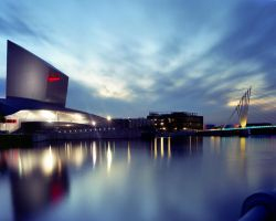 Salford Quays - Imperial War Museum North by WoodyPhotography