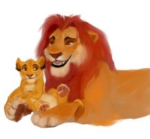Simba and Mufasa by VirtaLion
