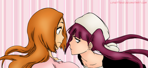 Riruka and Orihime Bleach 448 by LynetteNS