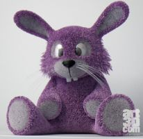 Plush Rabbit Design - Studio - 3D Render by ChrRambow