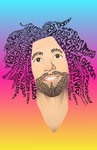 Daniel Avidan In Typeface by Sad-Senpai