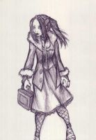 goth chick by ClydeBob