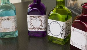 Labeled Square Bottles by CrystalKittyCat