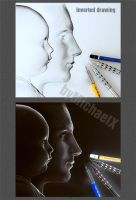 Inverted Pencil Drawing by byMichaelX