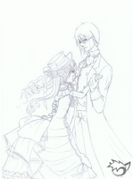 .: Ciel and Sebastian :. lineart WIP by PinselTheExperiment
