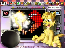 Mario Paint - UndoDog and Bomb by DaXXe