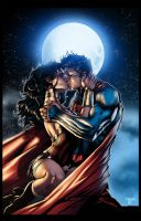 Superman/Wonder Woman - by Jim Lee/Inkist - Colors by TrinityMathews
