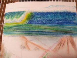 oil pastel try out 1 by Watercreess