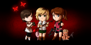Survival Horror Ladies by ClaraKerber