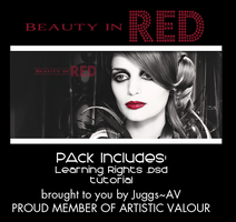 Beauty in Red .psd pack by juggsy