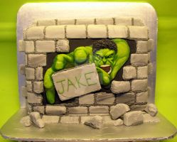 The Hulk Cake by ginas-cakes