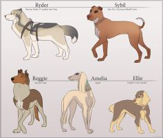 Canine Characters by Tazihound