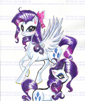 Rarity Pegasus Pony and Unicorn Shimmer by alaer