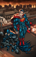 Superman and Batman by AlonsoEspinoza