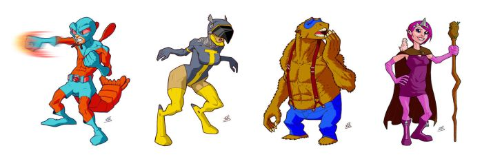 Obscure Animal Superheroes by drawerofdrawings