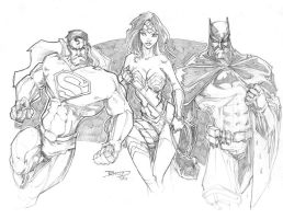 Supes Bat and WW FAN ART by rantz