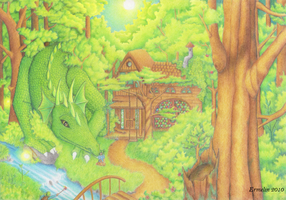 The Green Dragon by Ermelin