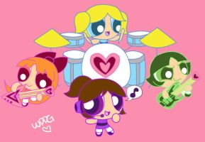 [PC]: PPG: The Four-Girl Band! by WingedPPG