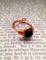 Copper Ring With Wood Bead by kreativelfenmaedchen