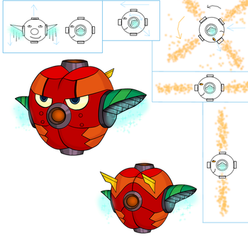 Mighty No 9 Enemy Design concept Phase 3 by K4Z1