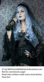 Lavender Goth Stock 002 by MADmoiselleMeliStock