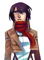 CRYING MIKASA by Jazzie560