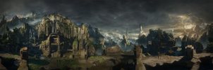Shrine - H2A panorama by 2900d4u
