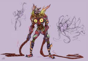 Majora's Mask take it's form by MarvelousCoconuts
