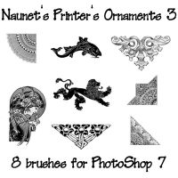 Naunet's Printers Ornaments 3 by sknaunet