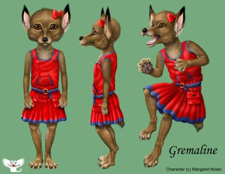 Gremlin character reference by ART-fromthe-HEART