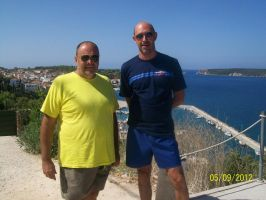 my father and his best friend in Pylos by TheSniper92