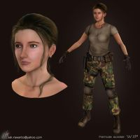 Texturing - Female Soldier by idonk