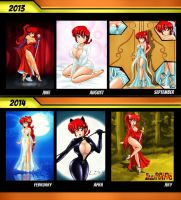 Ranma-chan, the hottest redhead by linkartoon