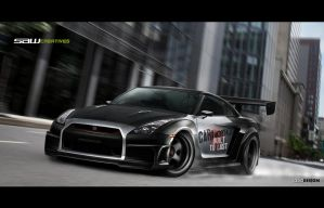 Skyline GTR 35 widebody2 by yasiddesign