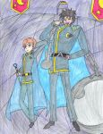Royal Moon Guards Lieutenant Sao and Captain Atlas by Saito-Hizuki