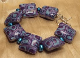 Geometry Bracelet - blue and purple by ACrowsCollection