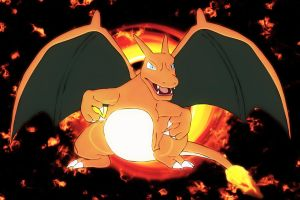 Fiery charizard by Elsdrake