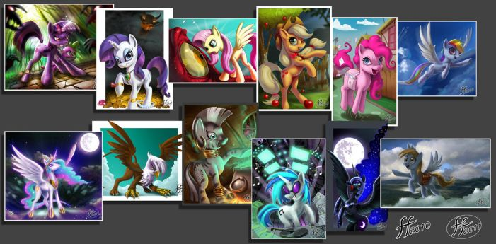 1 Year of MLP FIM Art by 14-bis