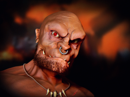 Orc Bust by T-Magnus