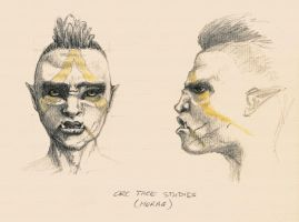 Orc face study by theDeathspell