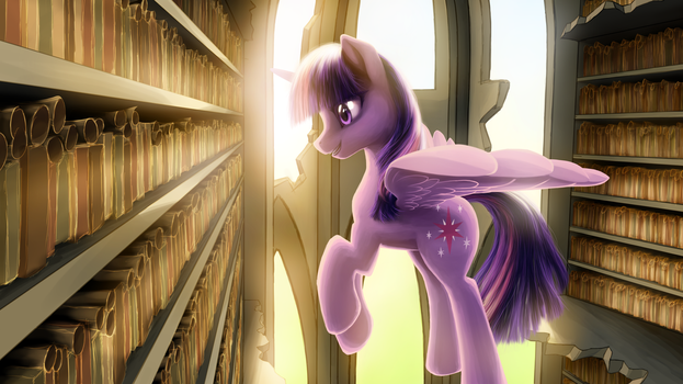 The Library of the Two Sisters by gem-magic