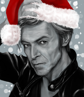 Santa Bowie by rosabelieve