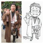 Chibi Style Tired Jedi Commission by Banzchan