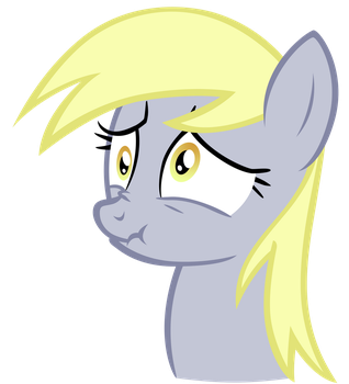 Derpy scrunchy face by Tardifice