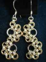 Gold n Silver Japanese Earring by comicrelief2jr