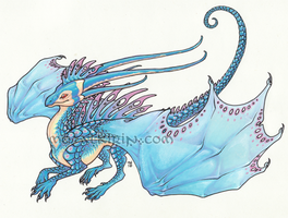 Blue Lacewing Dragon Sticker by thedancingemu