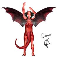 Demon for Mitch Moffit by ChrisLeroux